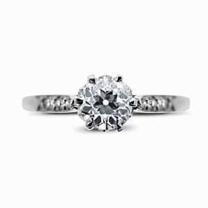 Vintage Old Cut Diamond Engagement Ring - 0.58ct